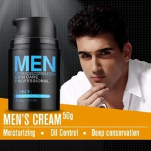 LAIKOU Natural Men's Skin Care Cream Face Lotion Moisturzing Oil Balance Brighten pores minimizing 50g Men Face Cream