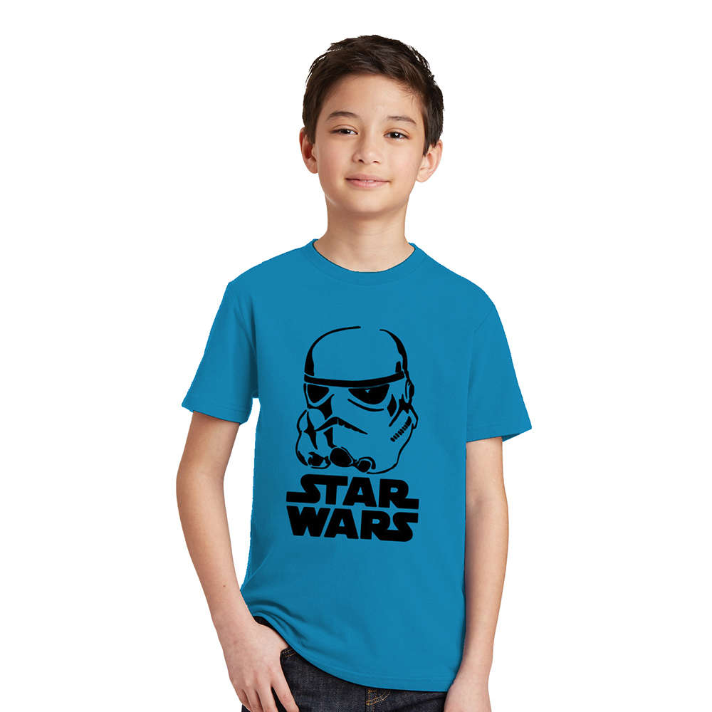 3-10Y Boys T-shirt Star Wars Kids Tshirt Black Knight Darth Vader Stormtrooper Pattern Cotton Boys Clothes Children T Shirts