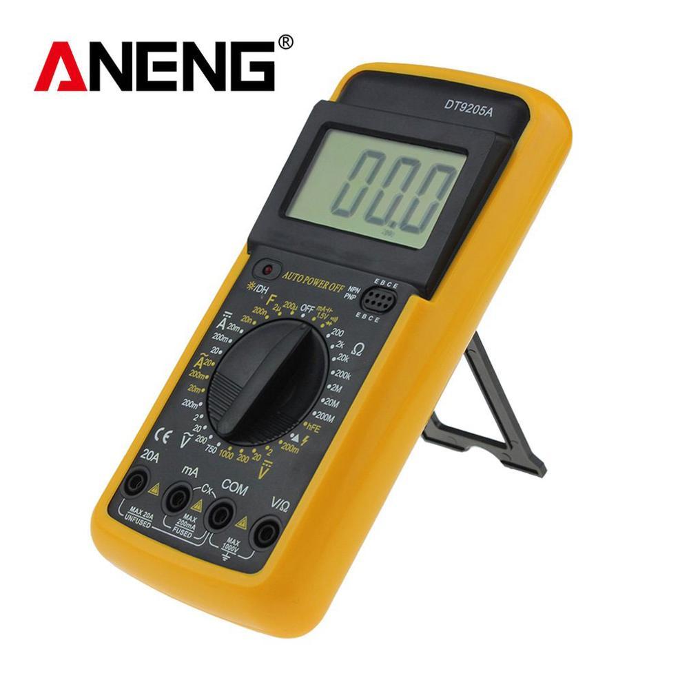 ANENG DT9205A Professional Digital Multimeter Electric Handheld Ammeter Voltmeter Resistance Capacitance hFE Tester AC DC LCD