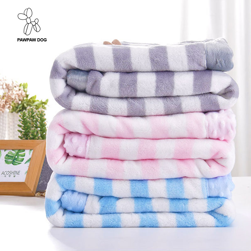 75x100cm coral fleece blanket throws on sofa/bed/plane 100% polyester living room blanket portable striped plaids for children