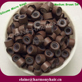 ( 1000pcs/bag ) 4.5mm Medium Brown 5# Aluminum Silicone Micro Beads for I-tip Hair and Micro Ring Loop Hair Extensions