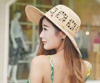 6 adet Benzersiz Marka El Yapımı Örme Rafya Hasır Şapkalar Kadınlar Doğal Saman Kap Bayanlar Yaz Güneş Plaj Kubbe Tığ Kapaklar toptan