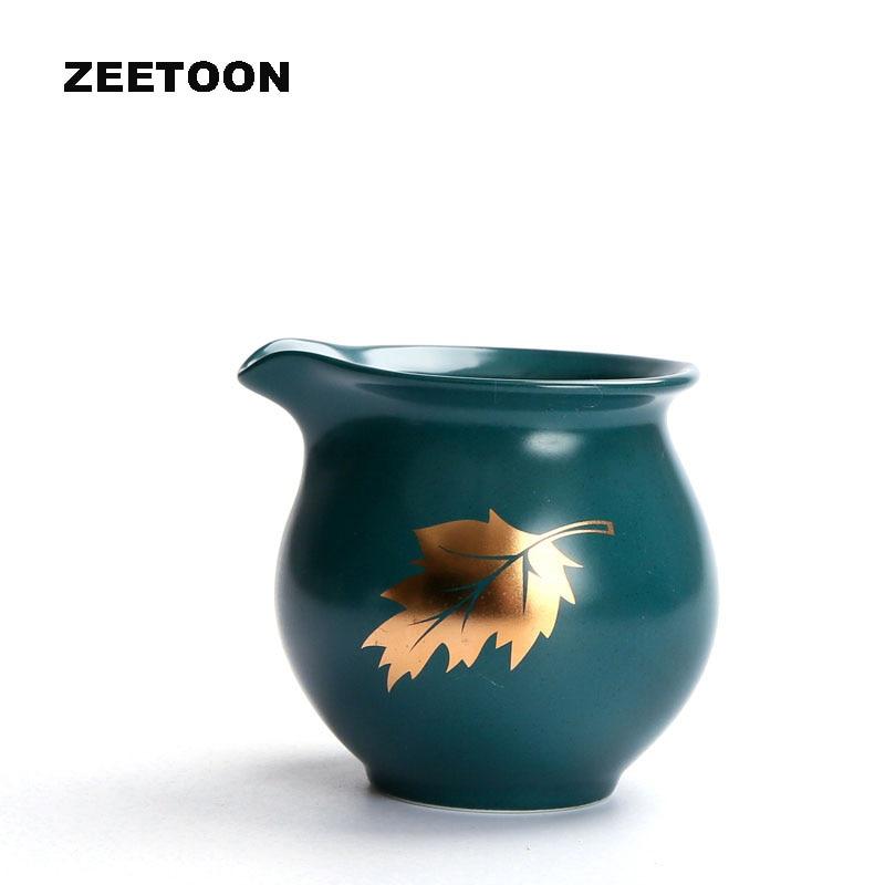 zen estilo japons esmalte azul de la hoja de arce ml taza justa caf cha