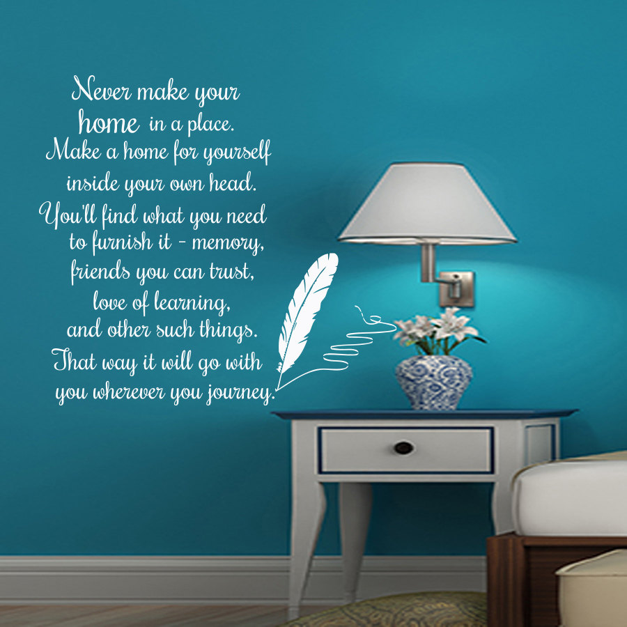 online get cheap writing english com alibaba group dctop never make your home in a place english text wall sticker feather writing home decor