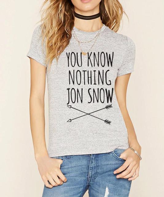 Game Of Thrones Jon Snow 100% Cotton Short Sleeve Women's T-Shirt