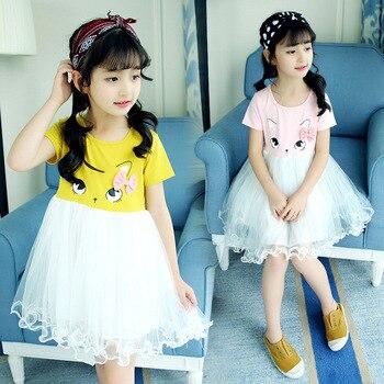 502d64895c349d5 Летние Детские платья для девочек; вечерние платья-пачки принцессы для  подростков; праздничный Детский костюм; детская одежда; Vestidos