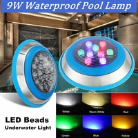 Swimming Pool Light Waterproof LED Beads Underwater Light RGB Glow Show Fountain Lamp Aquarium Outdoor Lighting 12V/24V 9W