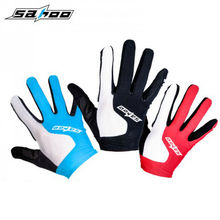SAHOO Full Finger Cycling Gloves Gel Touch Screen Mountain Bike ciclismo Bicycle Shockproof Gloves Three Colors