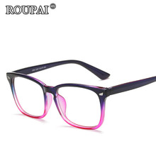 ROUPAI 2017 Latest Trends Hipster Unisex Glasses Frame Vintage Retro Women Men Clear Glasses Beautiful Frame Eyeglasses oculos