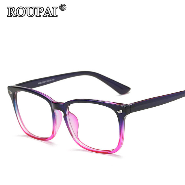 bccb971ecec ROUPAI 2017 Latest Trends Hipster Unisex Glasses Frame Vintage Retro Women  Men Clear Glasses Beautiful Frame Eyeglasses oculos