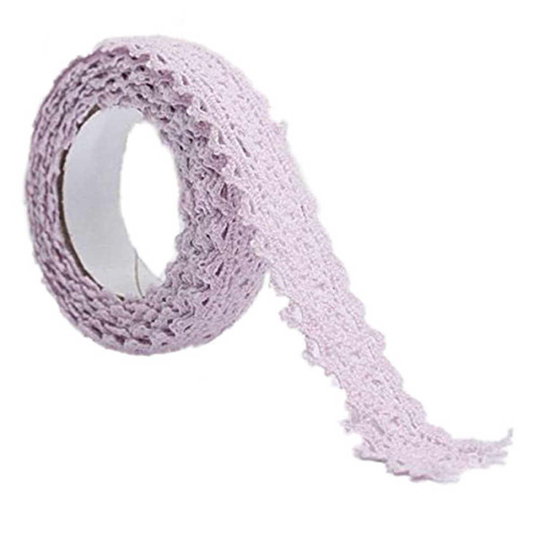 1x Decoration Band Christmas Ribbon Lace Wedding Gift on 1.8 * 170cm Light purple
