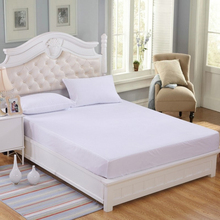 Fitted sheet four corners with an elastic band Mattress Cover solid color Bed Sheet Queen size