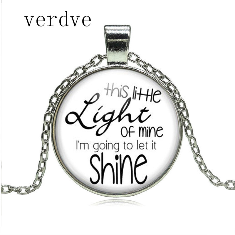 This Little Light of Mine Necklace Christian Songs Vacation Bible School Church Friend Gifts Religious Women Men Jewelry image