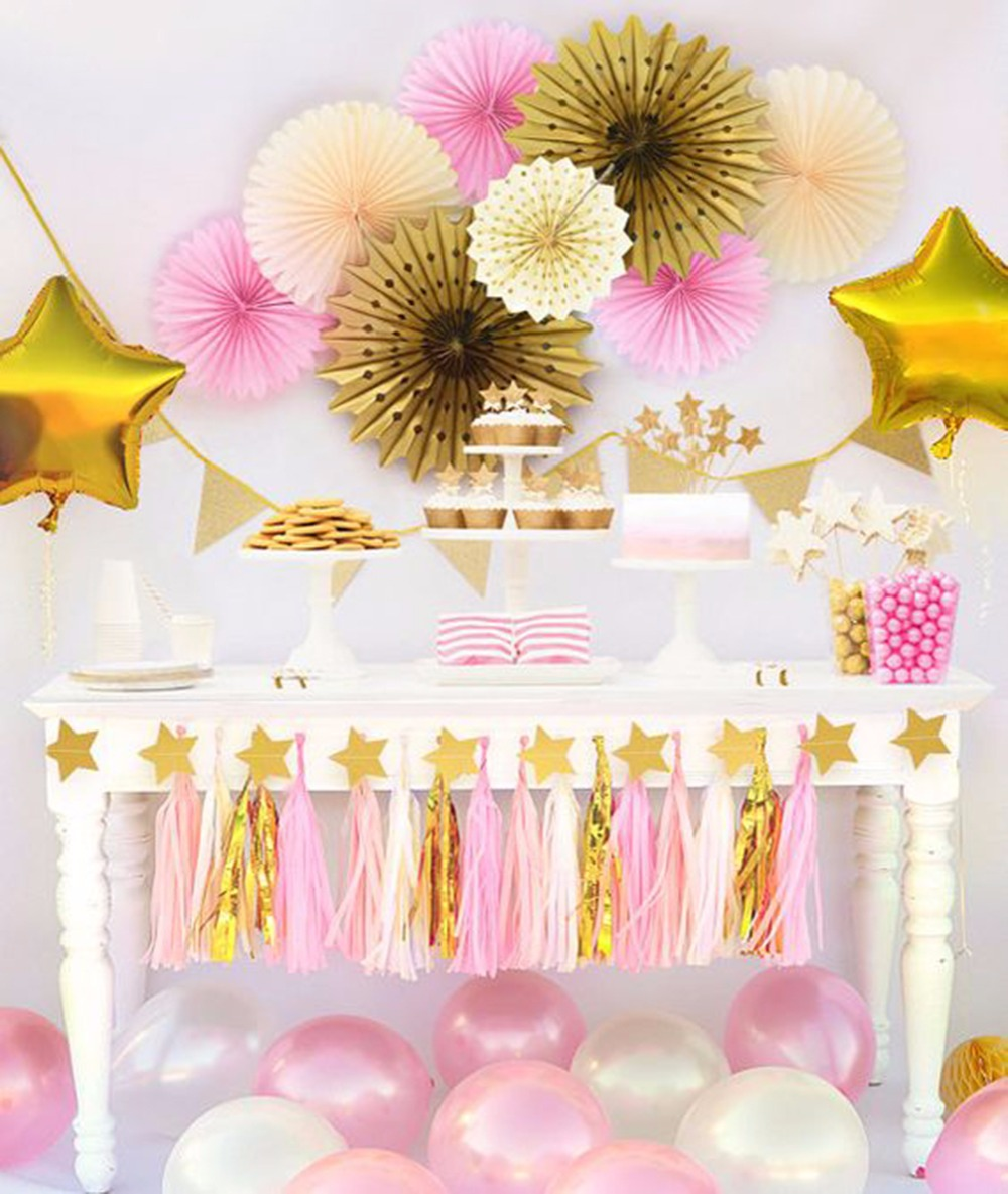Happy Birthday Decoration for Girls Pink Theme Baby Shower ...