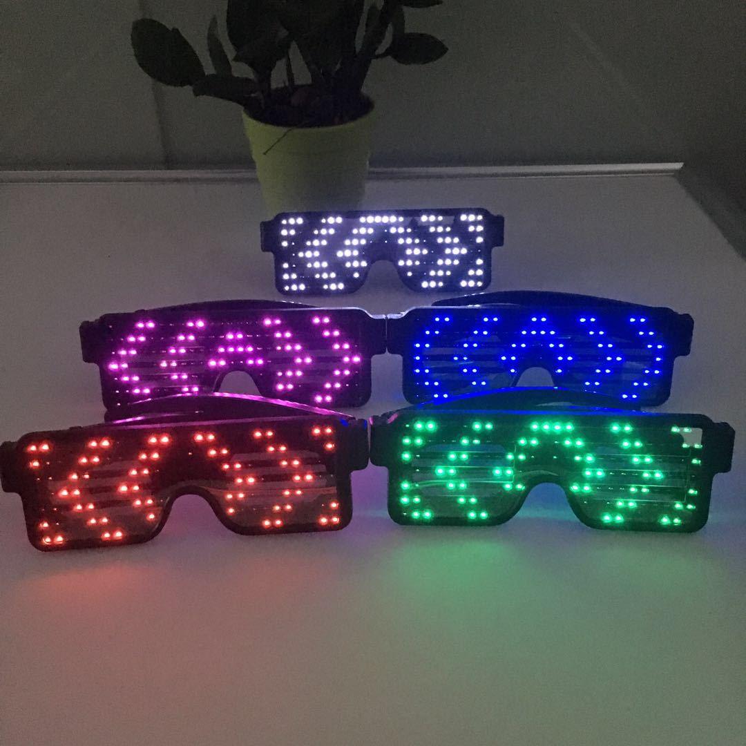 Очки свет мигает неоновые светящиеся очки лампы многоцветный светодиод 8 режим ну вечеринку