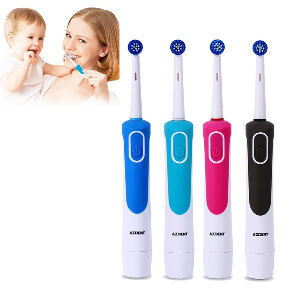 Elektrische Zahnbürste Mit 4 Ersatz Zahnbürste Köpfe Batterie Betrieben Rotierenden Zähne Pinsel Mundhygiene Pinsel Zähne