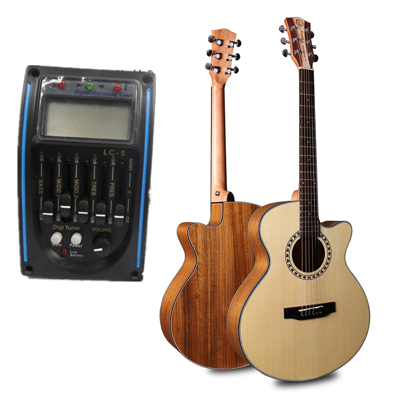 Finlay 40 quot Electric Acoustic Guitar Spruce Top Walnut Body guitarra nature matt With hard case FM 165C in Guitar from Sports amp Entertainment