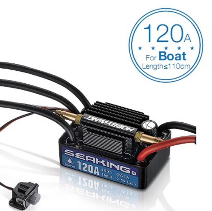 F18582/3 Hobbywing SeaKing V3 Waterproof 120A /180A 2-6S Lipo Speed Controller 6V/5A BEC Brushless ESC for RC Racing Boat
