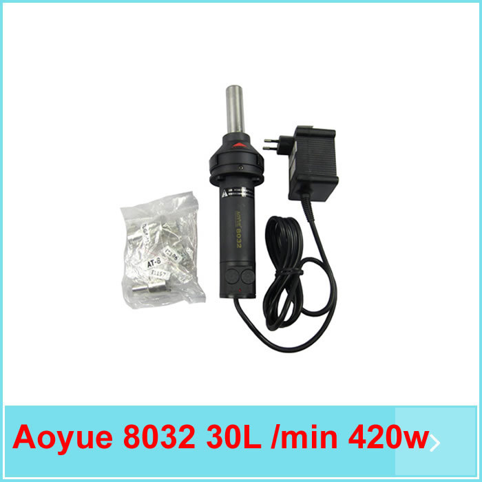 Brillant Aoyue 8032 30l/min 420 Watt Hand Hot Air Gun Luft Entlötwerkzeug Station 220 V Wärme Pistole Bga Rework Solder Station Hot Air Gun Schweißen & Löten Supplies