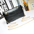 New Fashion Women Bag Patent Leather Women Messenger Bags Crocodile Crossbody Shoulder Bags For Women Small Clutch Bolsos Mujer