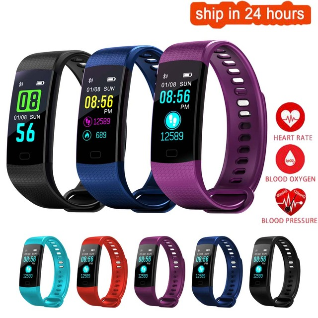 K11 Color Screen Smart Wristband Sports Bracelet Heart Rate Blood Pressure Monitor Fitness Tracker For Nokia