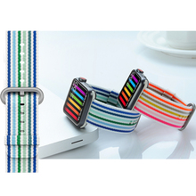 Woven Nylon Strap for Apple Watch Band 42mm 38mm apple watch 4 44mm 40mm correa iwatch belt 3/2/1 band sport Bracelet цена и фото