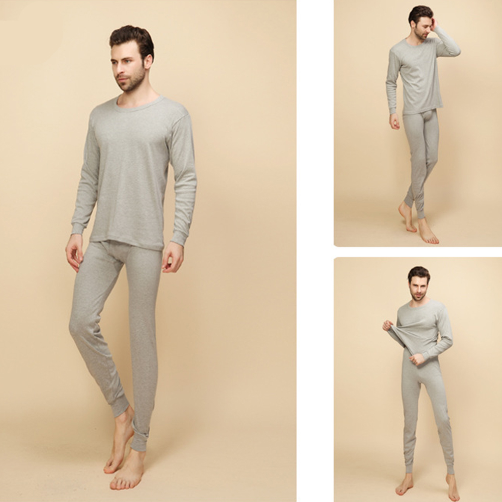 2018 New Arrival Thermal Underwear Sets Male Autumn Winter Thick Warm Round Neck Undershirts Trousers Man Long Johns S 2XL in Long Johns from Underwear Sleepwears