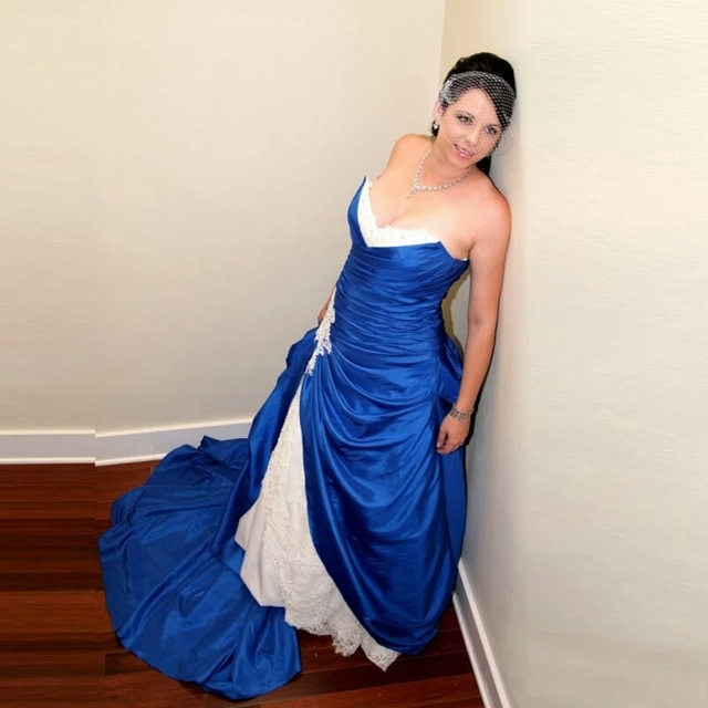 2016 Kleur Royal Blue Bruidsjurken Mermaid Vintage Sexy Kant Trouwjurk Diepe V Hals Uit De Schouder Lace Up Wedding Jassen