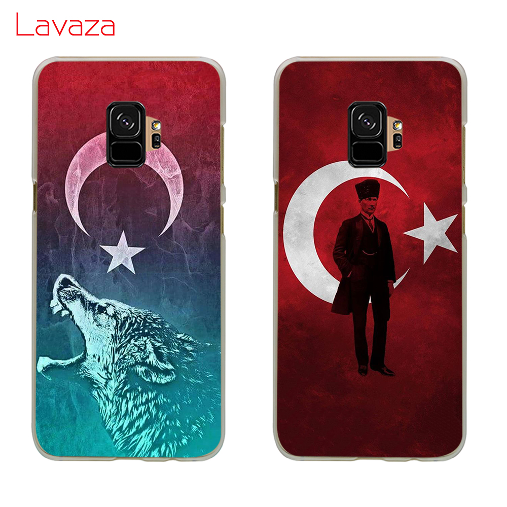 Lavaza of Turkey Albania flag Hard Phone Cover for Samsung Galaxy S8 S9 S10 Plus A50 A70 A6 A8 A9 2018 Case in Half wrapped Cases from Cellphones Telecommunications