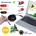 New Endoscope 8mm PC USB Android Endoscopic HD 720P 10M USB Endoscope Camera Tube Inspection 6LED 2IN1 Android Camera for Phone
