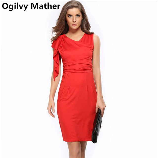 ba4ccc06c83a Summer Women Elegant Frill Sleeve Pleated Party Dress Female sexy  stretching slim pencil dress bodycon dress party dresses