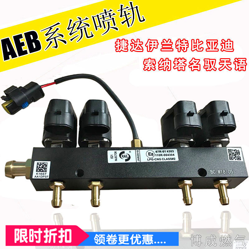 LPG CNG kits for AEB Injector rail Jetta Elantra BYD taxi