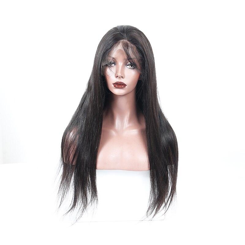 180% Плотность Синтетические волосы на кружеве человеческих волос парики для Для женщин предварительно сорвал бразильский Реми прямые парик...