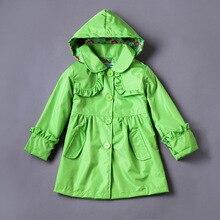 2017 Children Clothing Raincoat Girls Jackets Fashion Girl Kids Waterproof Hooded Coat Outwear Costume