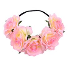 Party Girls Headwear Headdress Hair Accessories  Wreath Rose Flowers Headband Floral Crown Hairbands
