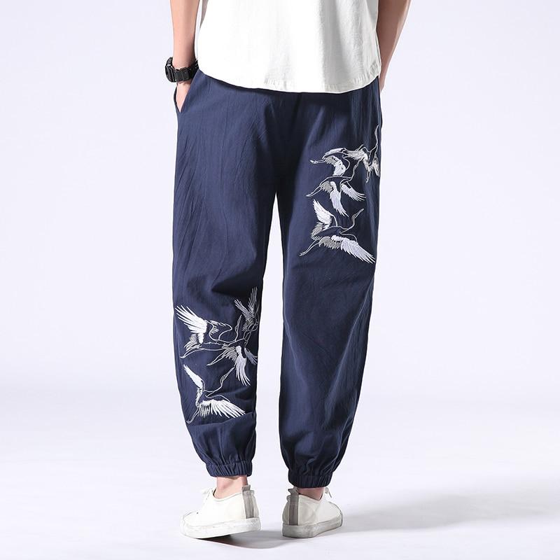 Мужские шаровары свободные повседневные мужские штаны с завязками геометрической формы, в стиле бохо с принтом мешковатые брюки летние длинные штаны - Цвет: color3
