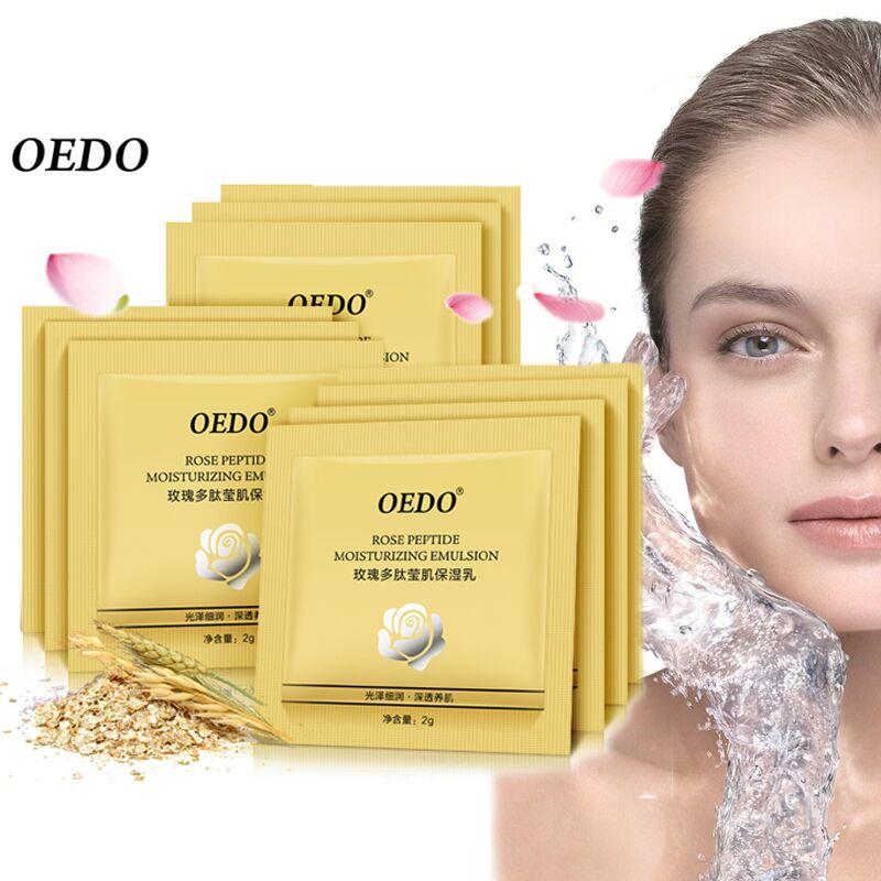 10PCS Rose Peptide Moisturizing Emulsion Lift Firming Skin Care Anti-Aging Anti Wrinkle Cream Oil-control Repair Water Lock