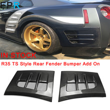 GTR R35 TS Stijl Carbon Achterspatbord Bumper Add Op Voor Nissan Glossy Fiber Bumper Racing Accessoires Body Kit(China)