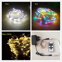 5m-80m led strings DC 12V fairy light Copper Wire LED String Holiday lighting Fairy Garland outdoor For Christmas Tree