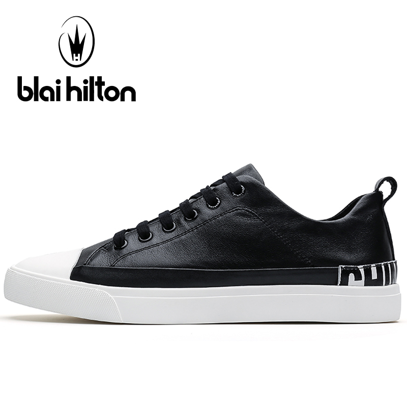 Blaibilton Breathable Men's Sneakers Genuine Leather For Men 2017 Flat Hard Wearing Light Weight Summer Sport Shoes Man Brand