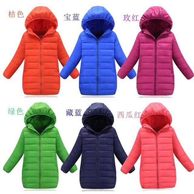 2016 Fashion Childrens down jackets coats Cotton-padded girls Spring / autumn / winter coat jacket children outerwear 110-150