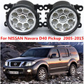 For NISSAN Navara D40 Pickup  2005-2015 Car styling front bumper LED fog Lights high brightness fog lamps 1set