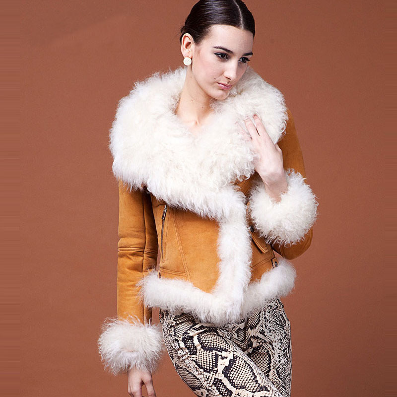 Aliexpress.com : Buy Women&39s Genuine Sheepskin Shearling Lamb Fur