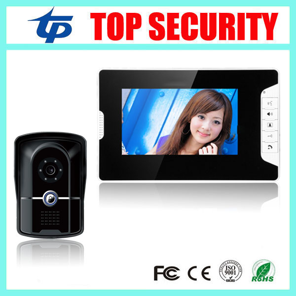 IP65 waterproof good quality night version video door phone 7 inch color screen wired door bell video intercom system exported quality screen printing frame 7 5x10 inch 19x25cm wholesale price door to door