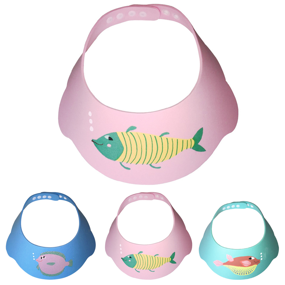 New Baby Child Bathing Visor Shampoo Cap Shower Cap Adjustable Shampoo Shield Baby Shower Protection Eye Waterproof Baby Care