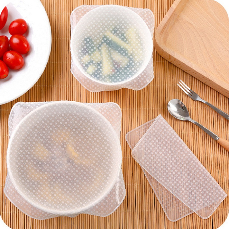 4PCS-Silicone-Reusable-Bowl-Covers-Food-Storage-Covers-Reusable-Veggie-Saver-Bundle-Variety-Pack-Reusable-Silicone