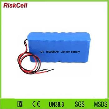 20pcs/lot factory price 12V 18ah lithium ion battery pack for solar street light/ LED light