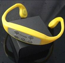 De conducción ósea impermeable MP3 con radio fm, deportes impermeables MP3 auricular envío gratis