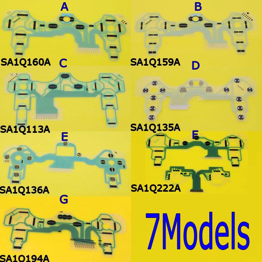Controller Ribbon Circuit Board for PS3 Controller Dualshock 3 SA1Q135A SA1Q160A SA1Q159A SA1Q194A Vibration Conductive Film