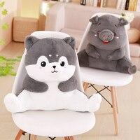 Plush Husky Pig Bear Stuffed Animal Cushion Pillow Baby Dolls Kawaii Cartoon Kids Present Toys Children Baby Birthday Gift